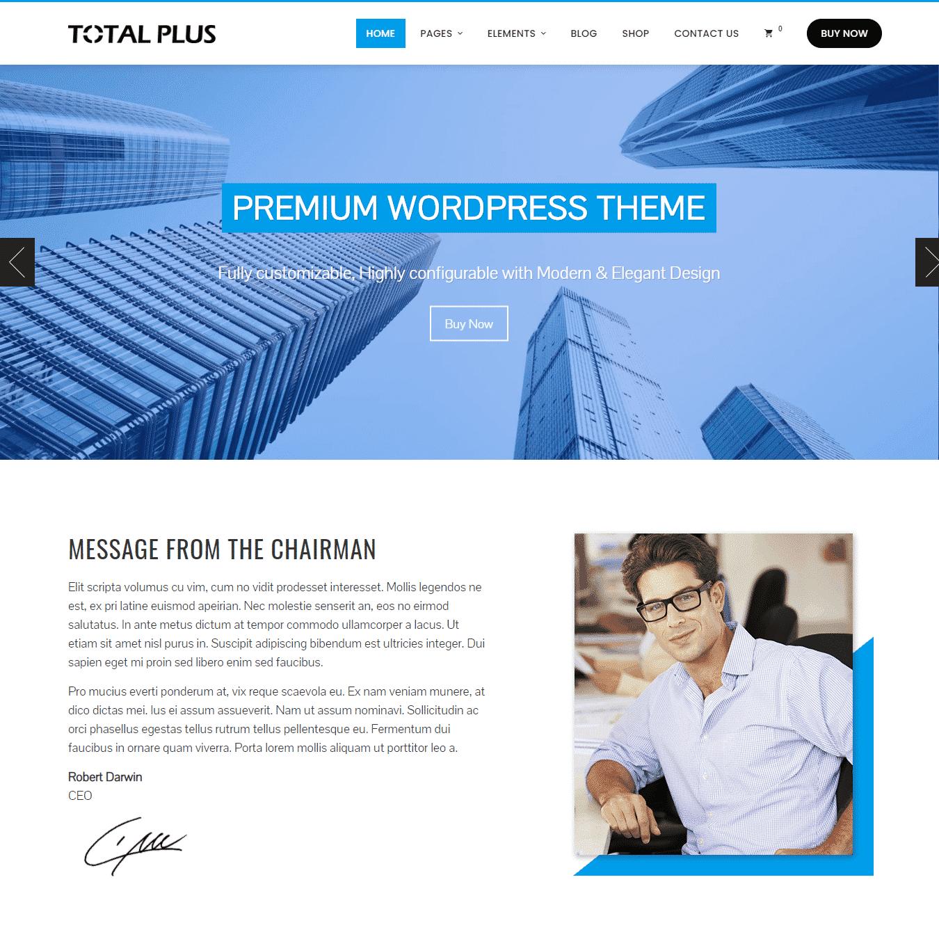 total plus WordPress theme