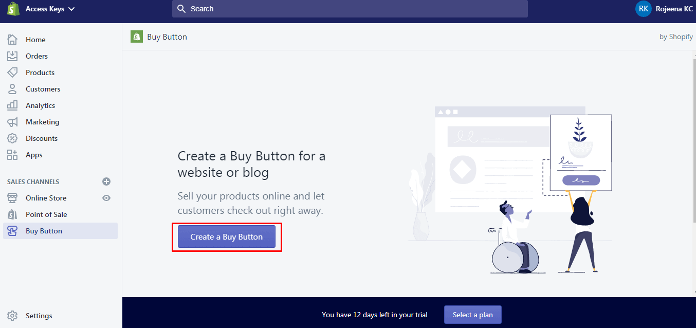 Create Buy Button