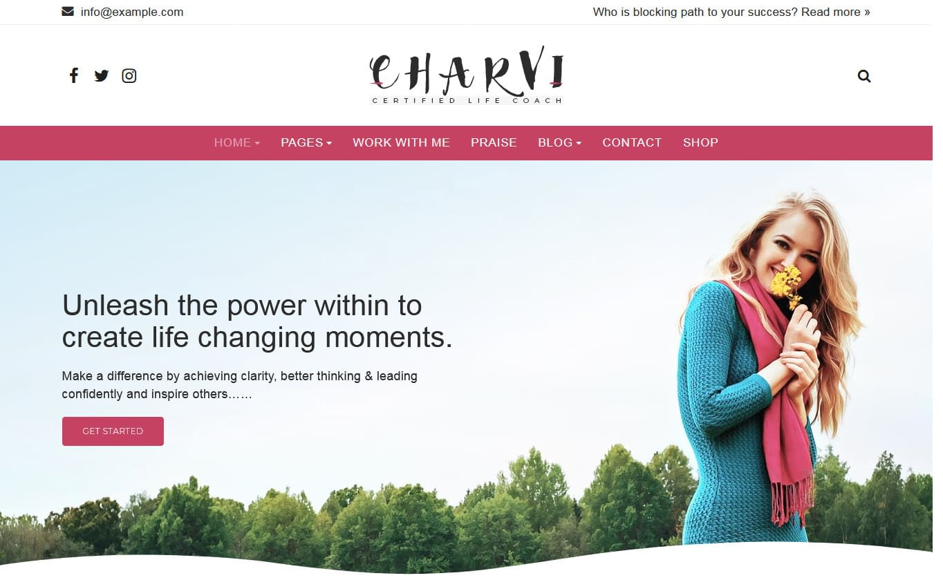 Charvi Coach & Consulting - Premium Fitness WordPress Theme