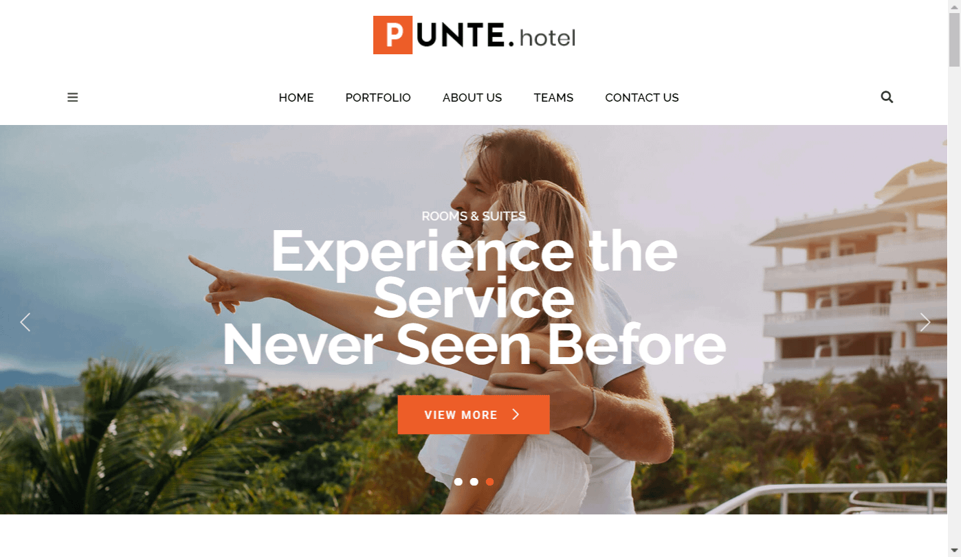 Punte - Free Hotel WordPress Theme