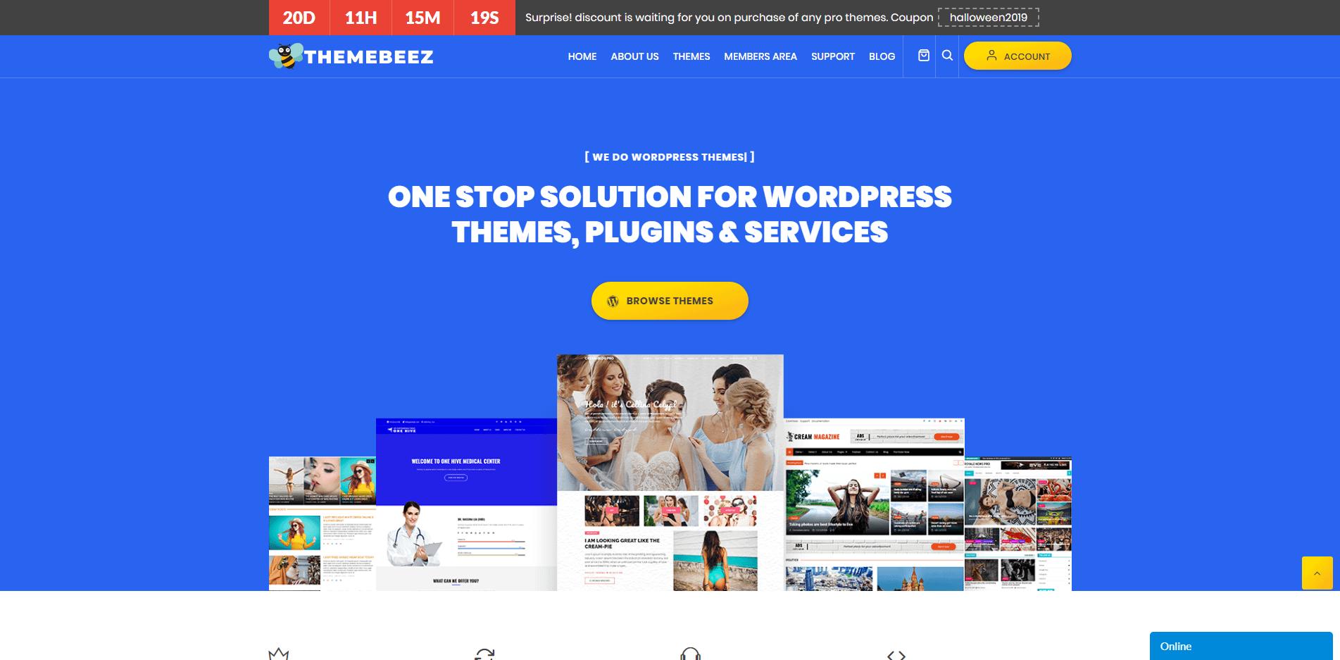 ThemeBeez- WordPress Halloween Deals and Discounts