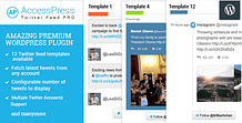 AccessPress Twitter Feed Pro - Premium Twitter Feed WordPress Plugin