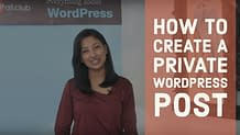 How to create a private WordPress Post