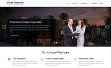 Clean Corporate - Free Corporate WordPress Theme