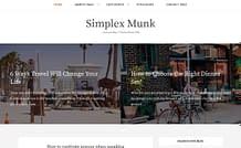 Simplex Munk - Free Responsive Blog Theme