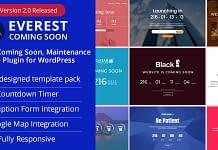 Best Coming Soon & Maintenance Mode Plugins for WordPress: Everest Coming Soon