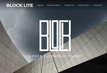 Block Lite - Free Responsive WordPress Theme