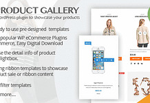 WP Product Gallery - WordPress Product Showcase Listing Plugin