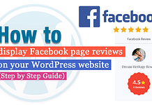 How to Display Facebook Page Reviews on your WordPress Website