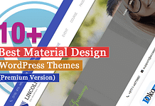 Best Premium Material Design WordPress Themes