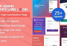 WP Admin White Label Login - WordPress Login Page Customization Plugin