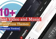 Best Premium Video and Music WordPress Themes