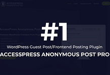Frontend Post WordPress Plugin – AccessPress Anonymous Post