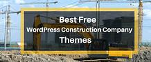Best Free WordPress Construction Company Themes 2017