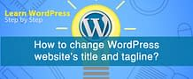 How to change WordPress website's title and tagline?