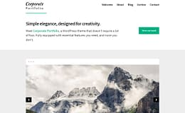 Corporate Portfolio - Free Multipurpose WordPress Theme