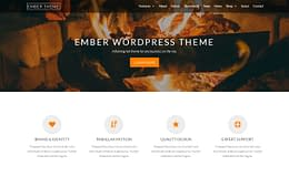 Ember Theme - Powerful Parallax WordPress Theme