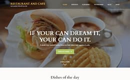 Restaurant & Cafe - Free Food Magazine Theme