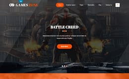 Game Developer - Premium Game Marketing Theme