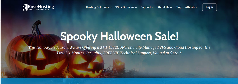 WordPress Deals and Discounts for Halloween 2018 - RoseHosting