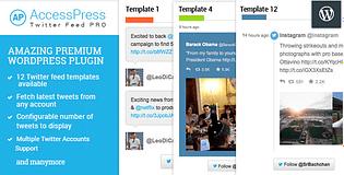 AccessPress Twitter Feed Pro - Premium Twitter Feed WordPress Plugin