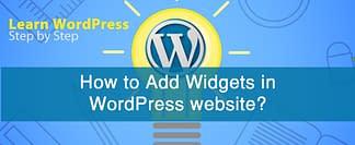 How to Add Widgets in WordPress website?