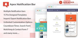 Apex Notification Bar - Responsive Notification Bar Plugin