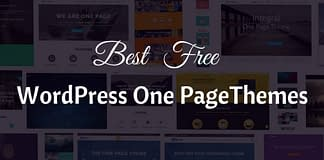 Best Free One Page WordPress Themes
