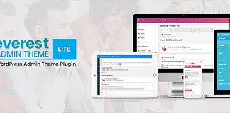 Everest Admin Theme Lite - Free WordPress Backend Customizer Plugin