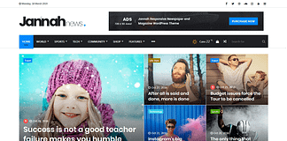 Jannah News - WordPress News Magazine Theme
