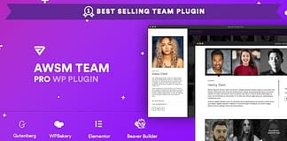 AWSM Team Pro - Team Showcase WordPress Plugin