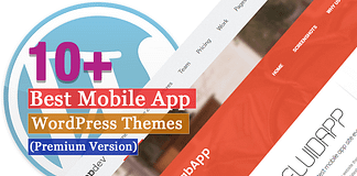 Best Premium Mobile App WordPress Themes