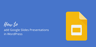How to add Google Slides Presentations in WordPress
