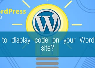 How to display code on your WordPress site