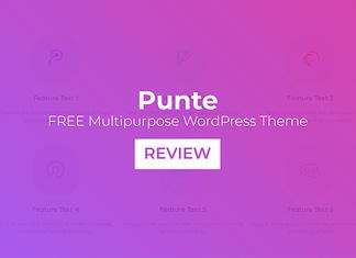 Punte – Free Multipurpose WordPress Theme Review