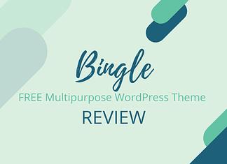 Bingle - Free Multipurpose WordPress Theme Review