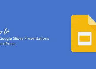 How to add Google Slides Presentations in WordPress