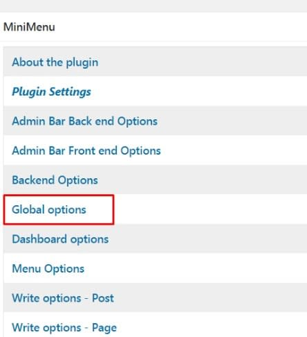 Disable the Screen Options Button in WordPress.