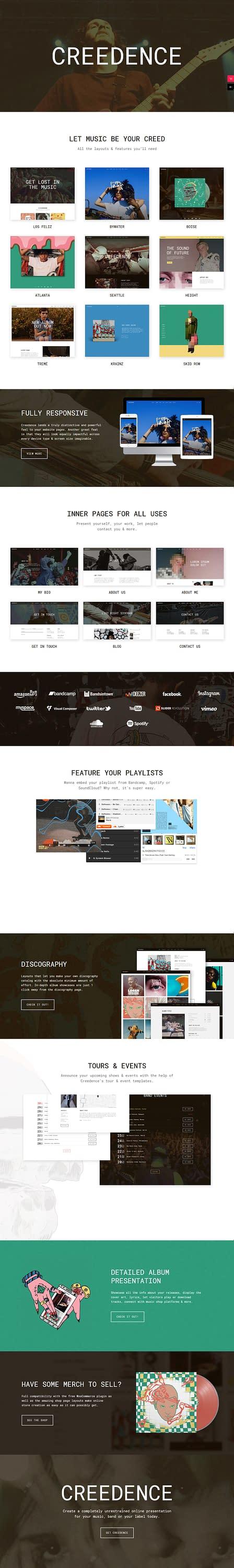 Creedence - Best Premium Video and Music WordPress Theme