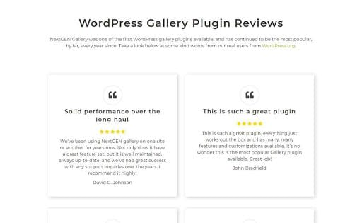 NextGEN Gallery Plugin Reviews