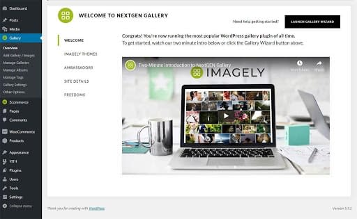 NextGEN Gallery Welcome Page