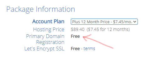 Bluehost - Pricing Plan