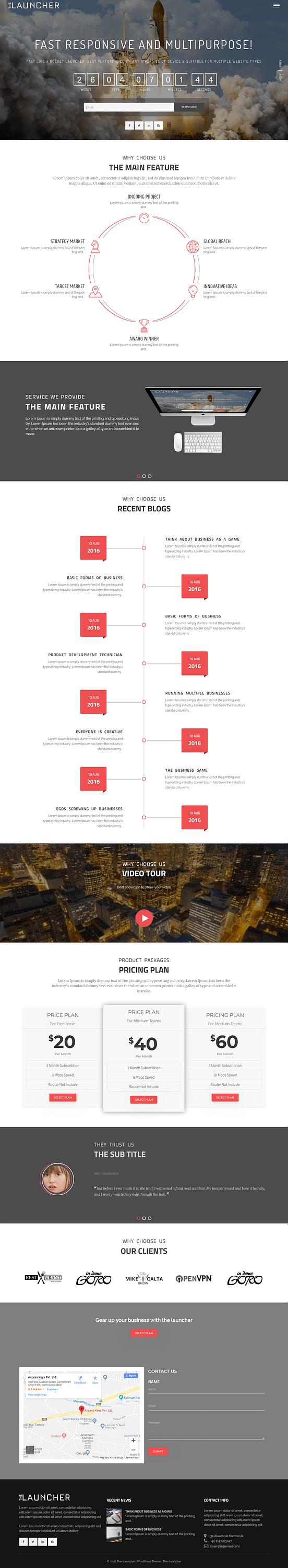 The Launcher - Best Free Multipurpose WordPress Theme