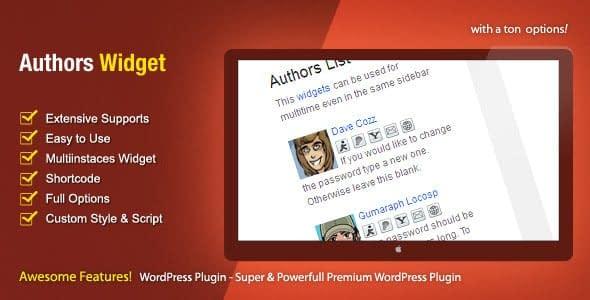 Authors Widget - WordPress Author Bio Box Plugins