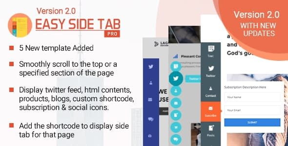 Best WordPress Floating Side Tab Plugins: Easy Side Tab Pro
