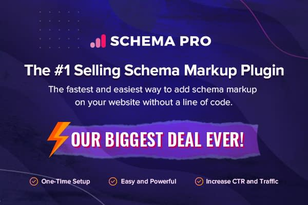 Schema Pro - Black Friday & Cyber Monday Deal