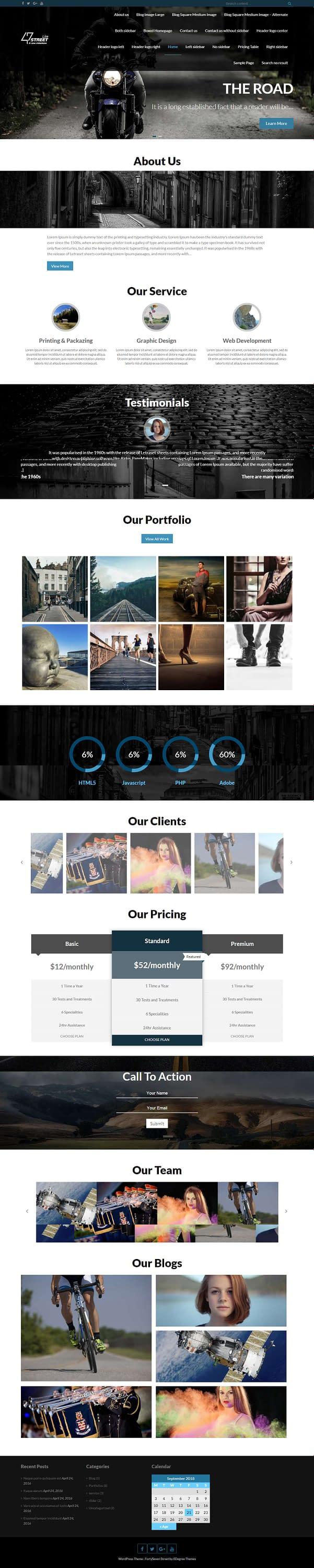 FortySeven Street - Best Free Multipurpose WordPress Theme