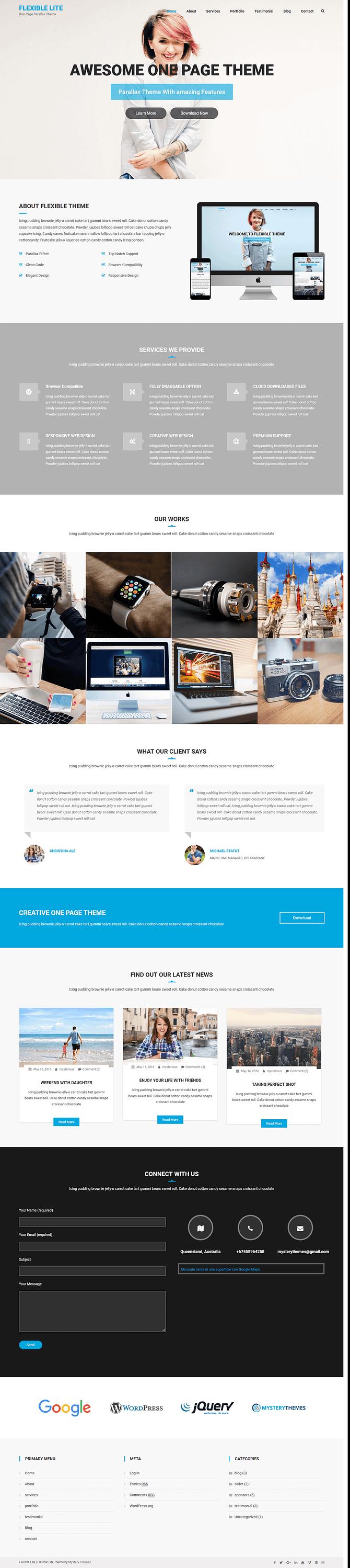 Flexible Lite - Best Free Multipurpose WordPress Theme