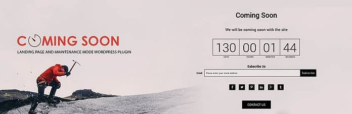 8Degree Coming Soon Page - Free Coming Soon and Maintenance Mode WordPress Plugin