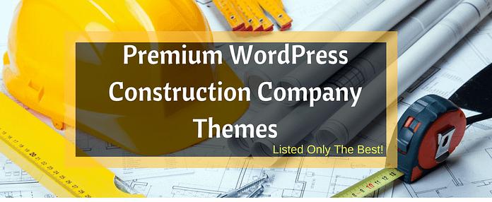 Best Premium WordPress Construction Company Themes 2017